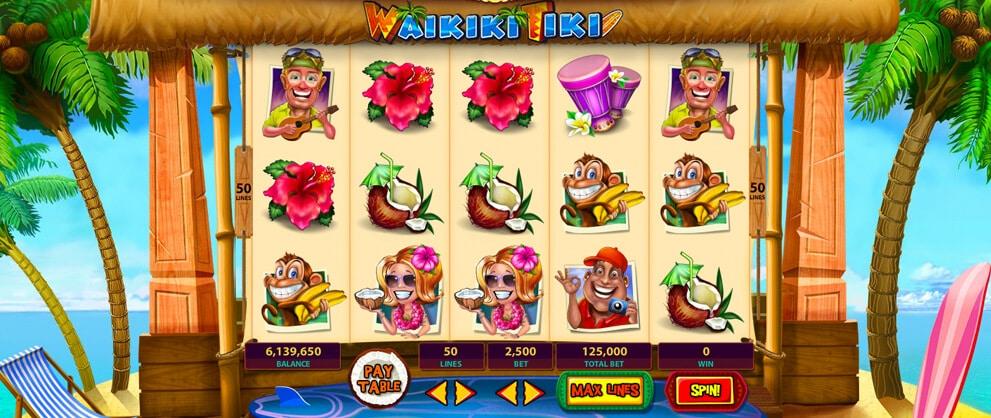 waikiki tiki free slot caesars casino
