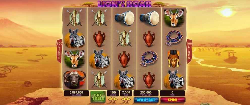 lions roar slots caesars casino