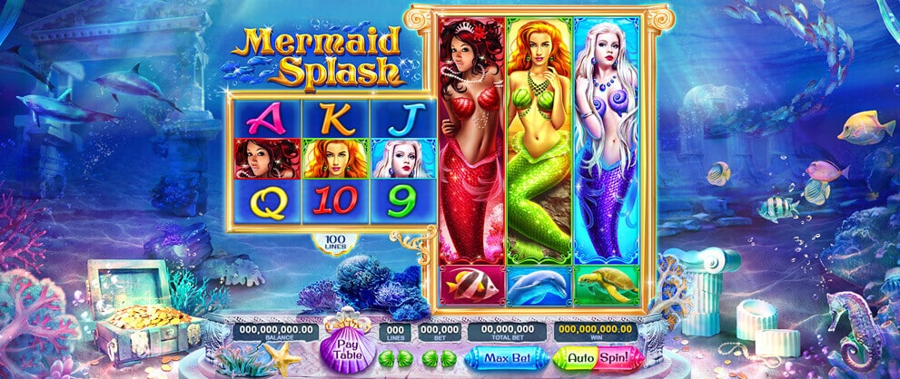 mermaid spalsh slots caesars casino