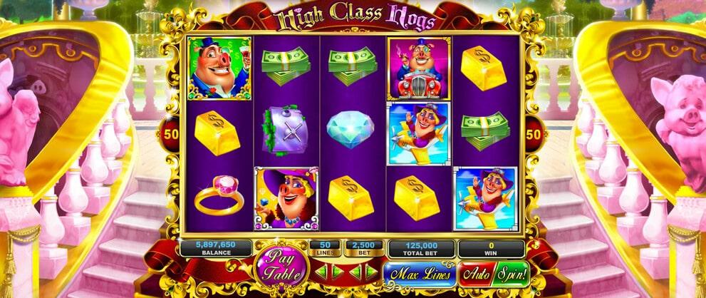 high class hogs free slots caesars casino
