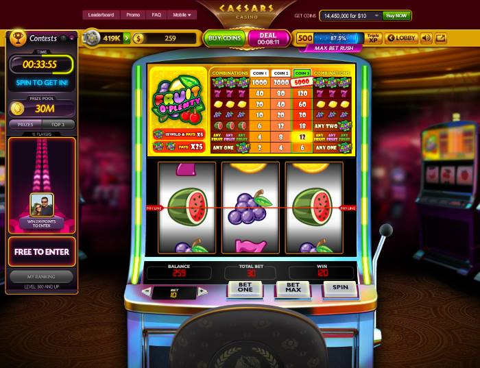 Fruit Machine Slot Games - Caesars Games