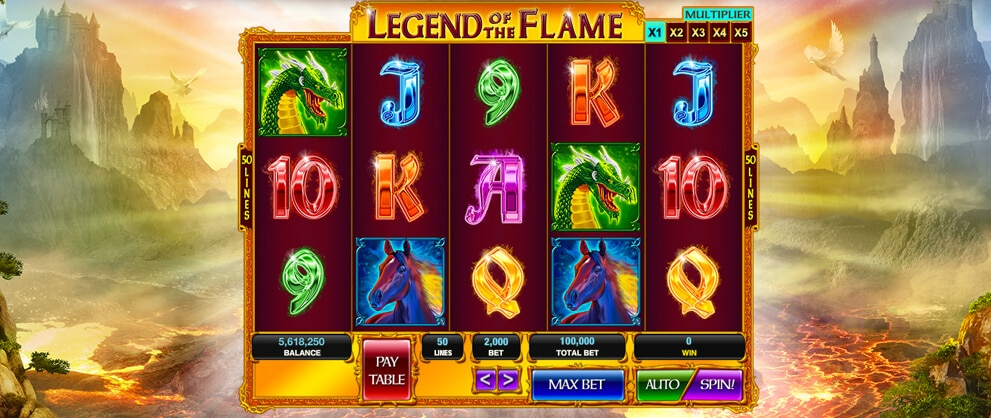 legend of the flame slots