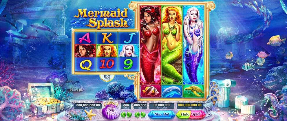 mermaid spalsh slots caesars casino