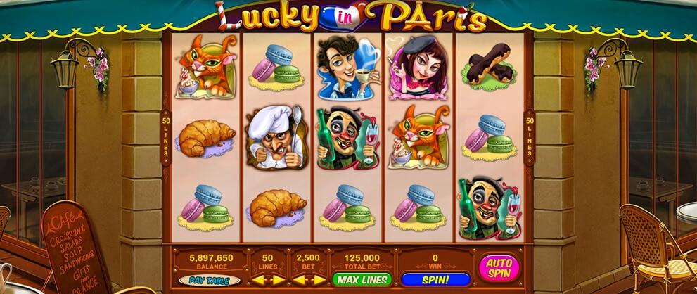 lucky paris free slot caesars casino