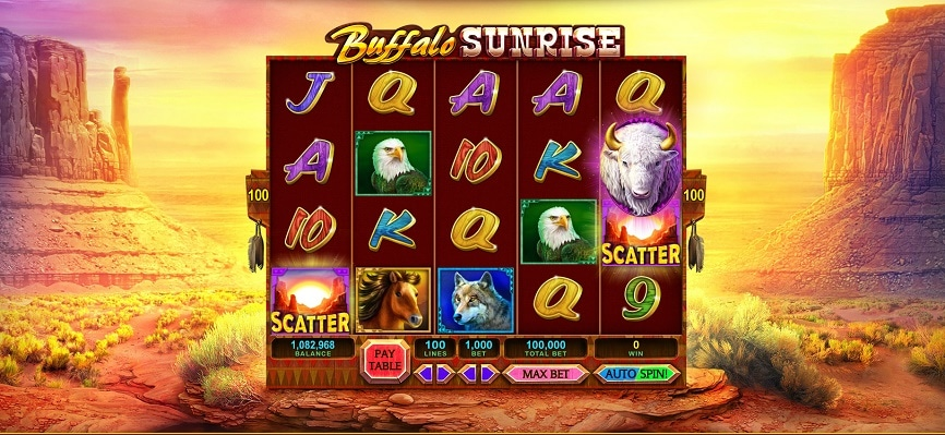 buffalo sunrise free slot caesars casino