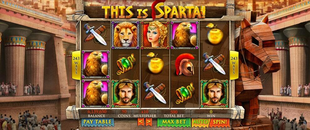 this is sparta free slot machine caesars casino