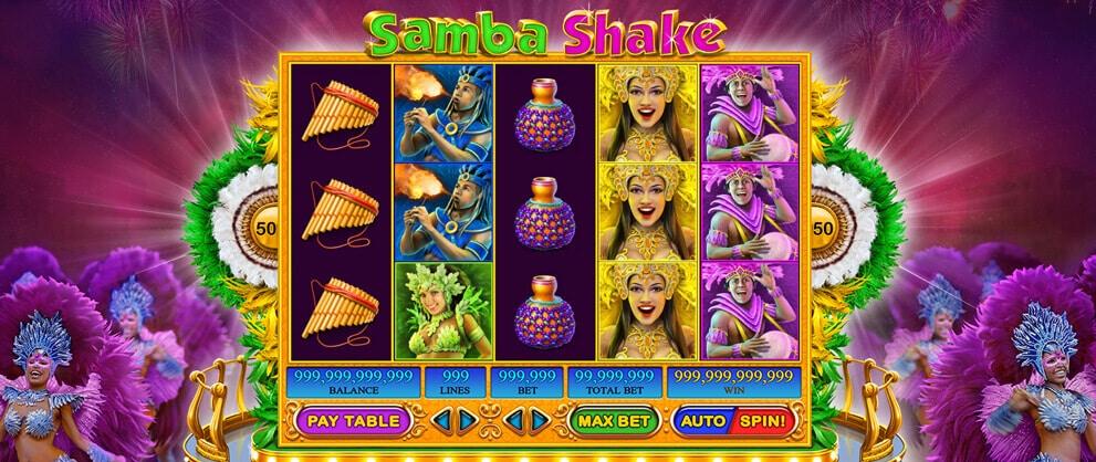 samba shake slot machine caesars casino