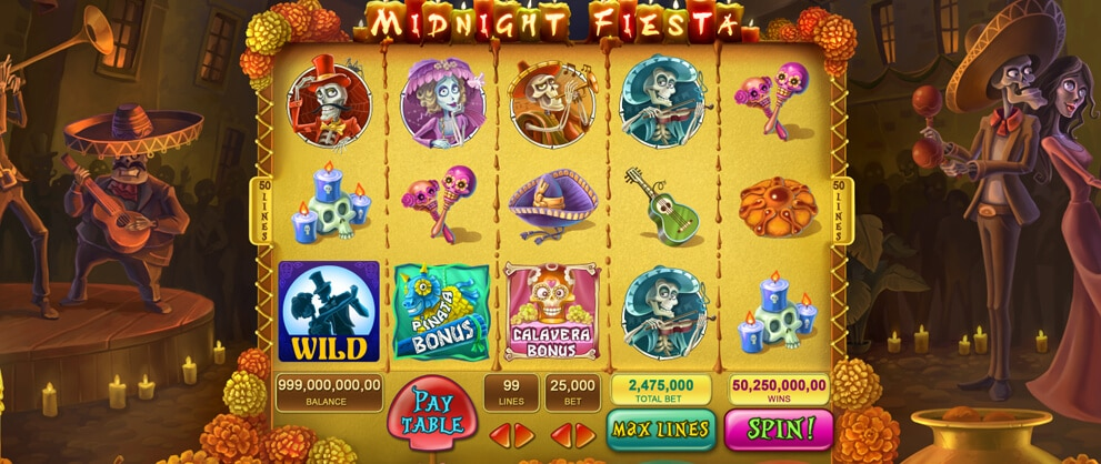 midnight fiesta slots