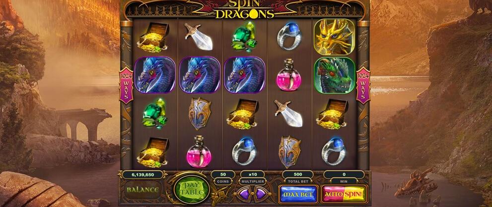 spin dragons free slots caesars casino