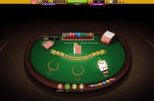 blackjack casino table game